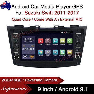 "AU449 • Buy 9"" Android 9.1 Car Stereo Non-DVD GPS Radio Head Unit For Suzuki Swift 2011-2017"