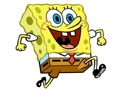 V2432 SpongeBob SquarePants Funny Happy Smile Kids Decor WALL PRINT POSTER UK • 10.95£