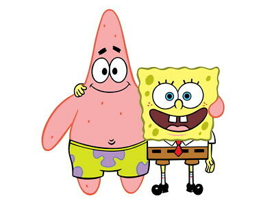 V2433 SpongeBob SquarePants Patrick Star Friends Kids Decor WALL PRINT POSTER UK • 10.95£