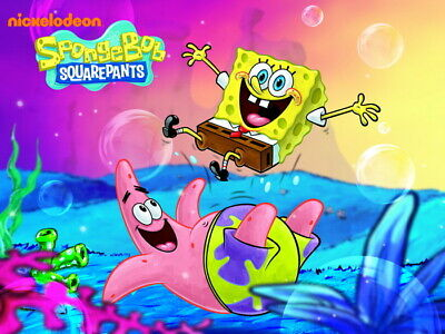 V2434 SpongeBob SquarePants Patrick Star Beautiful Kids WALL PRINT POSTER UK • 10.95£