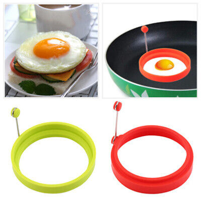 $2.39 • Buy Silicone Round Omelette Fry Egg Ring Pancake Poach Mold Kitchen Cooking Tool