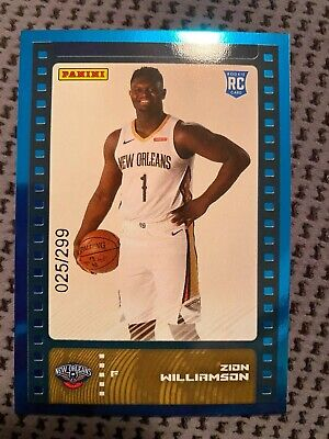 $149.99 • Buy Zion Williamson 2019-20 Panini Nba Sticker And Card Collection Blue Foil 025/299