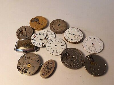 $ CDN15 • Buy Lot Of Vintage Watch Mechanisms And Dials