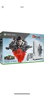$405 • Buy Xbox One X 1TB Console - Gears Of War 5 Limited Edition Bundle White