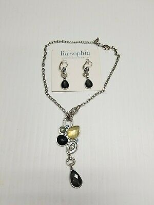 $ CDN20 • Buy Sophia Lia Jewelry Matching Earrings And Pendant Necklace Preowned