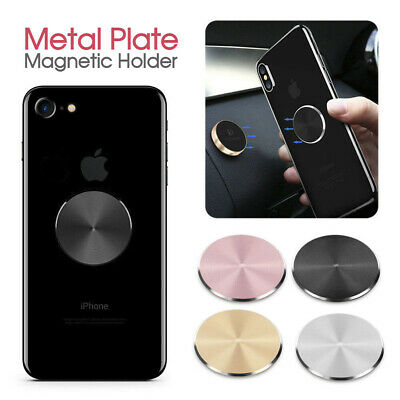 AU3.30 • Buy Magnetic Metal Plate Car Phone Holder Accessories Stand For Magnet Phone Support