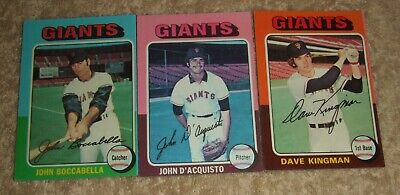 £5 • Buy Topps Chewing Gum North American Baseball Cards 1975 - San Francisco Giants X 3.