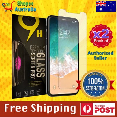 AU5.95 • Buy For Apple IPhone 11 Pro X XS Max XR Tempered Glass Screen Protector Premium 9H