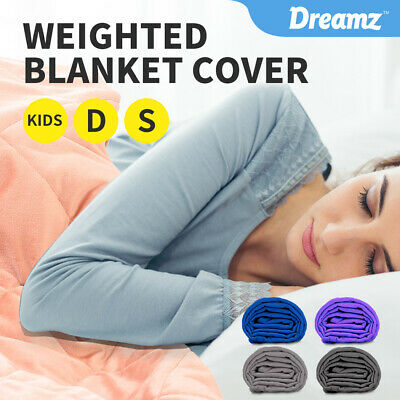 AU39.99 • Buy DreamZ Weighted Blanket Cover Quilt Duvet Doona Cover Kid Single Double Bed Warm