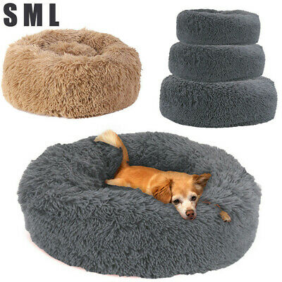 AU30.93 • Buy Detachable Pet Calming Bed Round Nest Faux Fur Donut Cat Dog Beds Self Warming