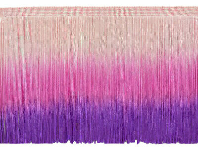 Tie Dye Pink 6  Chainette Fringe Trim Unicorn's Folly [By The Yard] • 3.95£