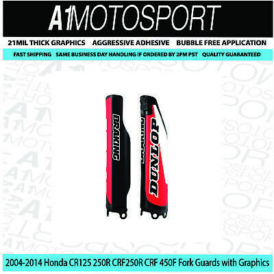 $32.95 • Buy  Honda 2004-2014 Fork Guards  CR125R 250R CRF250R CRF450R Black With Graphics MX