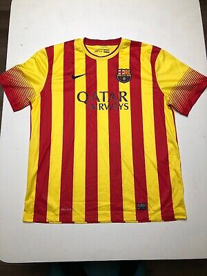 $45 • Buy Nike Barcelona Away Jersey Soccer Football 2013-2014 532823-703 Men's Size XXL