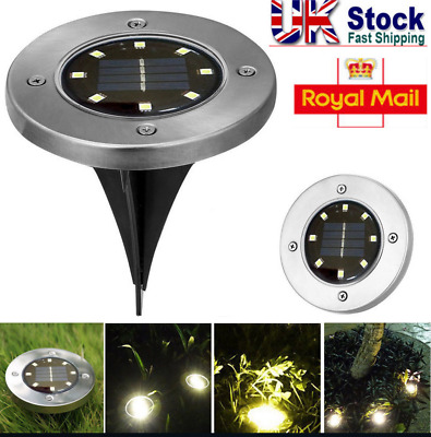 Solar Powered LED Spot Lights Ground Garden Lights Outdoor Waterproof Yard Lamps • 11.49£