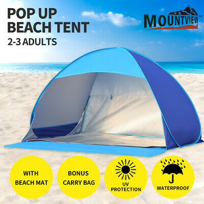 AU42.99 • Buy Mountview Pop Up Beach Tent Camping Tents 2-3 Person Hiking Portable Shelter