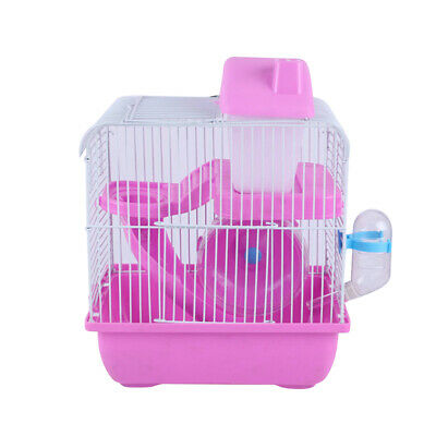 Hamster Cage Small Pet Gerbil Syrian Dwarf Mouse Mice Castle Cage Running Ladder • 9.49£