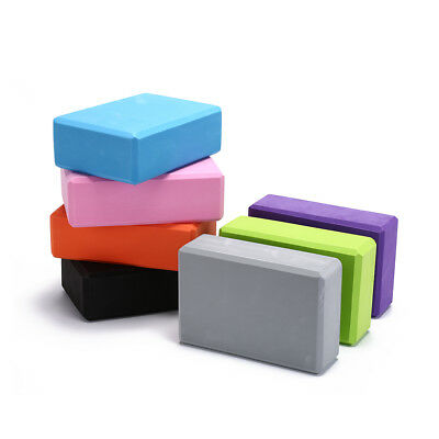 AU22.64 • Buy Yoga Block Exercise Fitness Sport Props Foam Brick Stretching Aid Pilates FALs