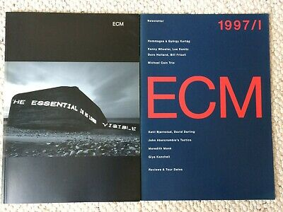 RARE REFERENCE ECM 1997 Catalogue 100 Page Brochure + 24 Page 1997 Newsletter • 10£