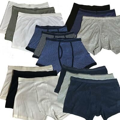 Ex M&S 3 Pack Plain And Patterned Jersey Cool & Fresh Cotton Boxer Shorts RRP£19 • 9.95£