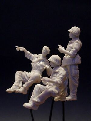AC Models FFL French Foreign Legion 3 Figure Jeep Crew 1/35th Unpainted Kit • 34.99£