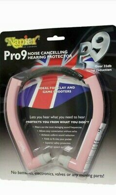 Napier Pro 9 Noise Cancelling Hearing Protector Over 32db Noice Reduction Pink • 29£