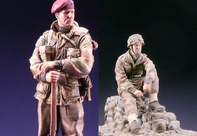 SK Miniatures British Paratrooper & Oficer Combo Arnhem WW2 1/35th Unpainted Kit • 18.99£