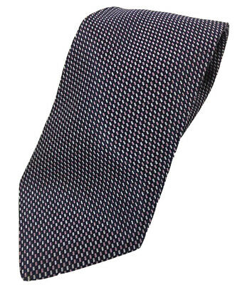 $4.99 • Buy ALBY Made In ITALY Men's Navy Fuschia White 100% Silk Luxury Tie 59x3.5