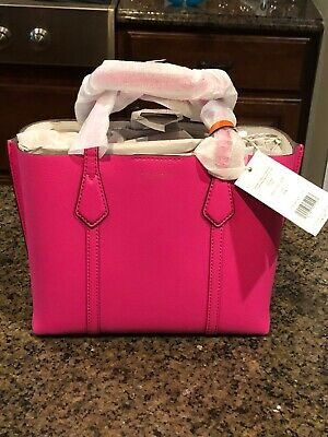 $200 • Buy NWT Tory Burch Crazy Pink Perry Small Triple Compartment Handbag