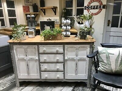 Shabby Chic Ercol Sideboard In Annie Sloan French Linen And Old White • 165£