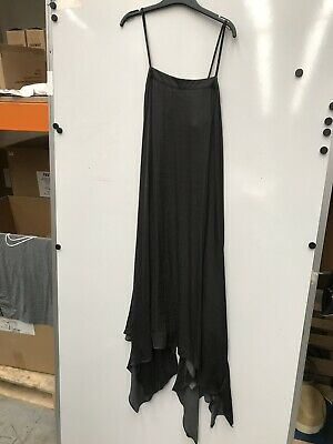 AU0.99 • Buy New Urban Outfitters Black Strappy Handkerchief Hem Midi Dress Size S
