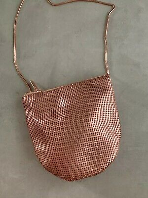 AU4.99 • Buy New Urban Outfitters Rose Gold GLO-Mesh Metallic Crossbody Bag