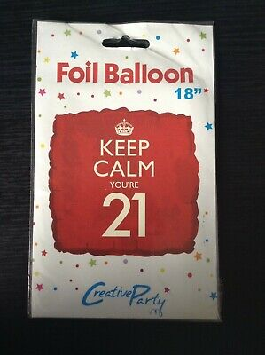 Keep Calm You're 21 Red 18'' Foil Square Balloon • 2.49£