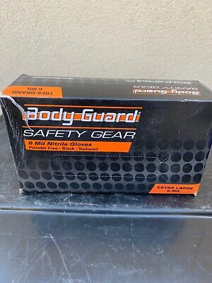 $ CDN44.30 • Buy Body Guard Safety Gear  6 Mil Nitrile EXTRA LARGE Gloves Qty 100 Box