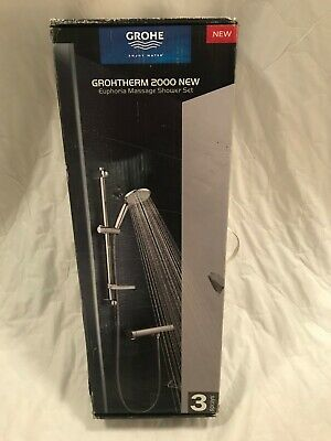 Grohe Grohtherm 2000 Euphoria Thermostatic Shower Mixer And Kit - 34195001 Set • 155£