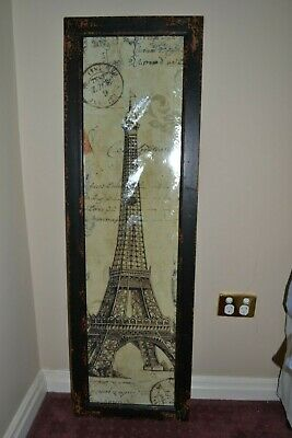 AU40 • Buy Unwanted Gift Eiffel Tower Print With Glass Framed Print Brand New