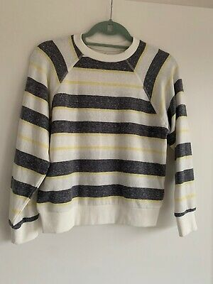AU9 • Buy New Urban Outfitters Striped Crew Neck Sweatshirt Grey/white/yellow Size S