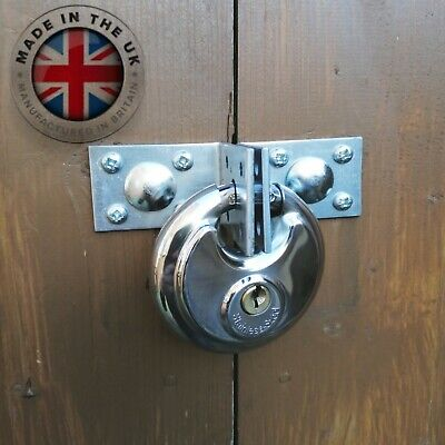 Heavy Duty Hasp INCLUDES PADLOCK - Galvanised Shed Lock  • 13.99£