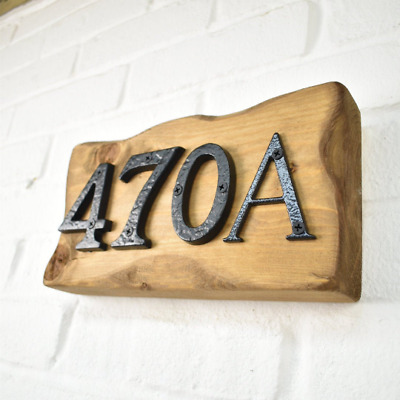Door Number Plaque - Chunky Wood - Handmade - Address Sign And Plaque • 24.99£