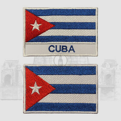 Cuba National Iron On Embroidered Patch Sew On Patch Badge For Clothes • 2.29£
