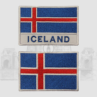 Iceland National Iron On Embroidered Patch Sew On Patch Badge For Clothes • 2.29£