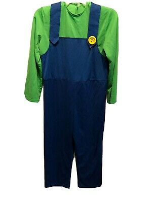 $12.99 • Buy Super Mario Brothers Luigi Deluxe Costume Size Large Kids Missing 1 Button