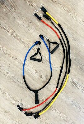 AU39.95 • Buy Latex Yoga Strap Resistance Bands Exercise Home Gym Tube Fitness Elastic