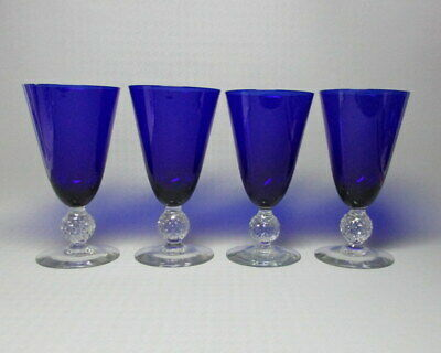 $40 • Buy Morgantown Golf Ball Set Of Four Glasses , Ritz Blue , 9 Oz Footed Water Tumbler