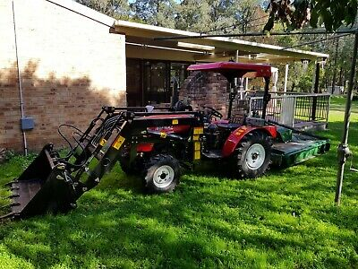 AU12000 • Buy Tractor 40HP, 4WD 4 Cylinder Diesel, With Front End Loader 4in1 Bucket,w/slasher