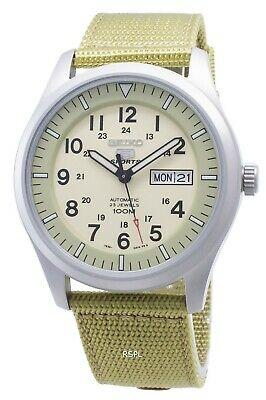 $ CDN147 • Buy Seiko 5 Sports Automatic SNZG07K1 SNZG07K Military Nylon Strap Men's Watch