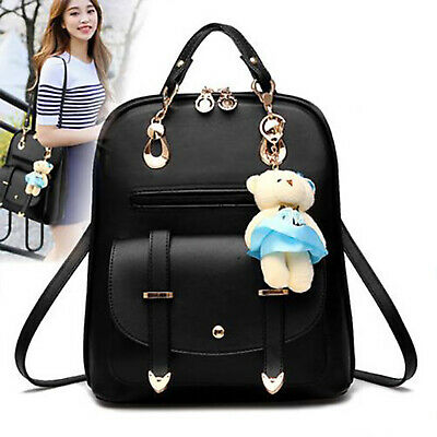 $21.99 • Buy Women Girls Cute Backpack Leather School Bag Teenage Shoulder Travel Casual Bag