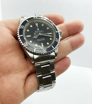 $ CDN17643.31 • Buy VINTAGE Rolex Submariner 5513 Stainless Steel Black Dial 1967