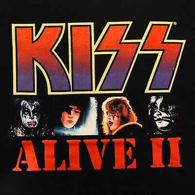 $9.95 • Buy KISS Alive 2 Released 1977 Shirt, X Large, NEW!