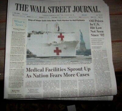 $8 • Buy The Wall Street Journal Tuesday March 31,20 Oil Prices In U.s. Hit Lowest Since