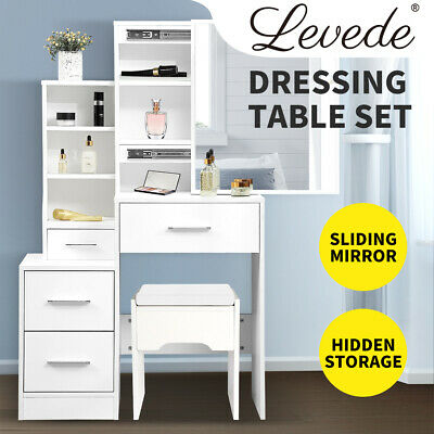 AU199.99 • Buy Levede Dressing Table Set Stool Mirrors Jewellery Cabinet Makeup Organizer